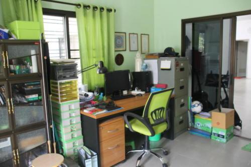 Office administrator's desk.