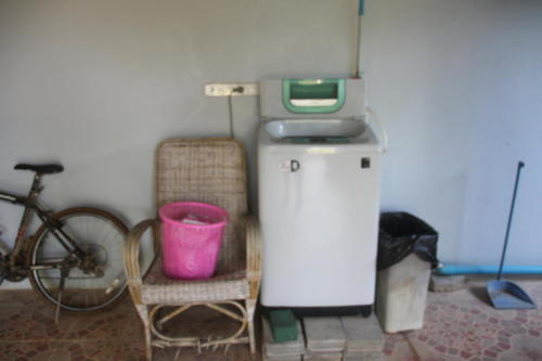 Our guest laundry area. Important when teams come visit.