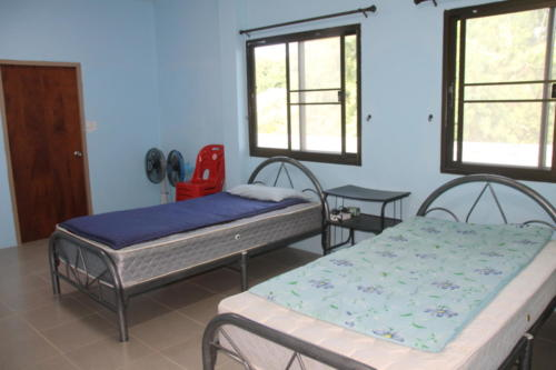 Staff room with 2 beds