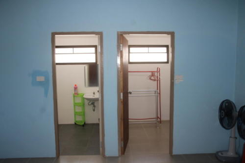 Doors to bathroom and closet room from one Staff room.