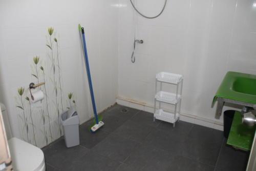 Hospital room bathroom.