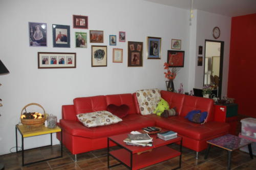 Living room and pictures on the wall