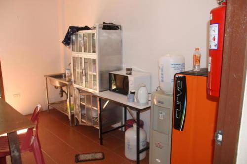 Boy's house kitchen.