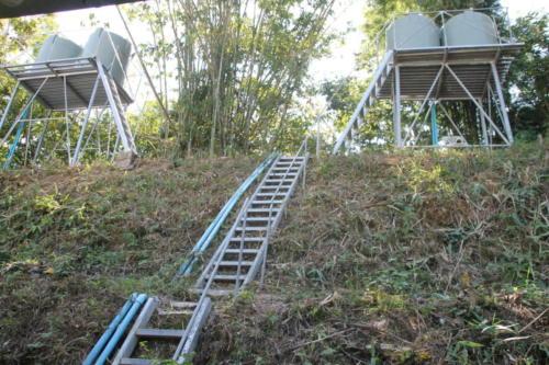 Steps to watertowers