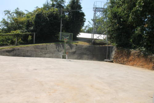 S2S playground with basketball hoop.